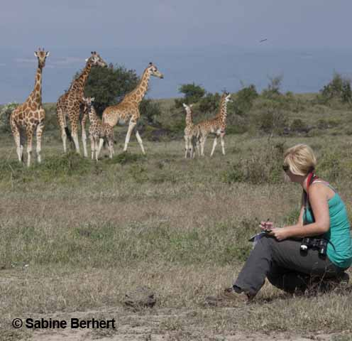 9. Zoe Muller carries out research on the Endangered Rothschild Giraffes in Kenya