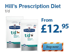 Hill's Prescription Diet  t/d  From £12.95